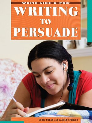 cover image of Writing to Persuade